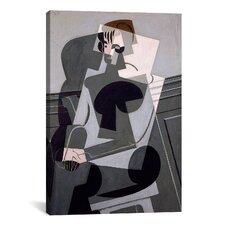 'Portrait De Madame Josette Gris' by Juan Gris Painting Print on Canvas