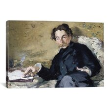 'Portrait of Stephane Mallarme' by Edouard Manet Painting Print on Canvas
