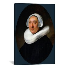 'Portrait of Van Haesje v. Cleyburg 1634' by Rembrandt Painting Print on Canvas