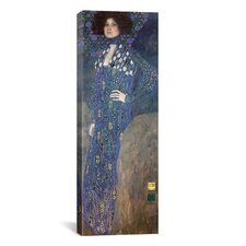 'Portrait of Emilie Floge' by Gustav Klimt Painting Print on Canvas