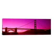 Panoramic 'Golden Gate Bridge, San Francisco, California' Photographic Print on Canvas