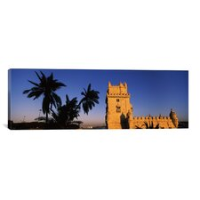 Panoramic Torre De Belem, Belem, Lisbon, Portugal Photographic Print on Canvas