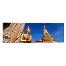 Panoramic Wat Phra Kaeo, Grand Palace, Bangkok, Thailand Photographic Print on Canvas