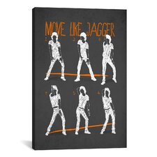 Move Like Jagger by Maximilian San Graphic Art on Canvas in Black