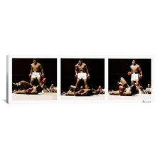 Muhammad Ali Vs. Sonny Liston, 1965 Photographic Print on Canvas in White