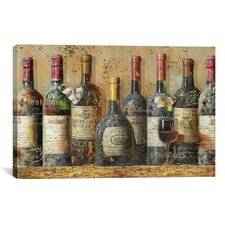 Decorative Art 'Wine Collection I from NBL Studio' Painting Print on Canvas