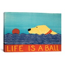 Life Is a Ball by Stephen Huneck Graphic Art on Canvas in Yellow