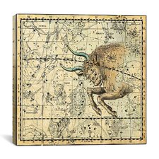 Celestial Atlas - Plate 14 (Taurus) by Alexander Jamieson Graphic Art on Canvas in Beige