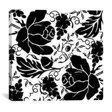 Grapes and Buds by Mindy Sommers Graphic Art on Canvas in Black / White