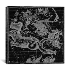 Maps and Charts Prints the Constellations or Stars in October, November and December (Burritt 1856) Graphic Art on Canvas in Black