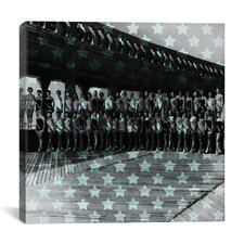 Miss America 1956 Stars Graphic Art on Canvas in Blue