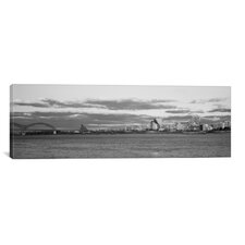 Panoramic Memphis Skyline Cityscape Photographic Print on Canvas in Black/White