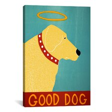 Good Dog by Stephen Huneck Graphic Art on Canvas in Yellow
