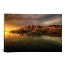 'Willow Lake Rock Wide I' by Bob Larson Photographic Print on Canvas