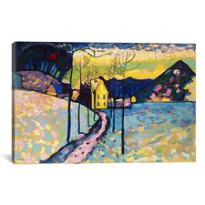 'Winter Landscape' by Wassily Kandinsky Painting Print on Canvas