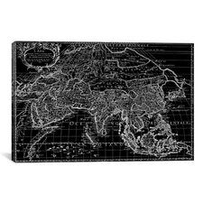 Antique Map of Asia (1687) by Giovanni Giacomo De Rossi Graphic Art on Canvas in Black
