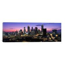 Panoramic Skyscrapers in a City, Atlanta, Georgia Photographic Print on Canvas in Multi-color