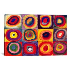 'Squares with Concentric Circles' by Wassily Kandinsky Painting Print on Canvas