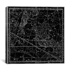 Celestial Atlas - Plate 22 (Pisces) by Alexander Jamieson Graphic Art on Canvas in Black