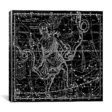Celestial Atlas - Plate 9 (Ophiuchus, Serpens) by Alexander Jamieson Graphic Art on Canvas in Black