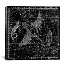 Celestial Atlas - Plate 11 (Cygnus, Lacerta, Lyra) by Alexander Jamieson Graphic Art on Canvas in Black