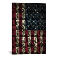 Pat Donnelly Miss America Flag Graphic Art on Canvas in Red/Blue