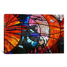 Photography Stained Glass Window Graphic Art on Canvas