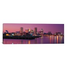 Baltimore Panoramic Skyline Cityscape Photographic Print on Canvas in Multi-Color