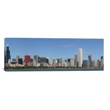 Chicago Panoramic Skyline Cityscape Photographic Print on Canvas in Color