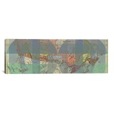 The Dominion of Canada Vintage Map Panoramic Graphic Art on Canvas
