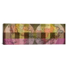 The Dominion of Canada Vintage Map Panoramic 2 Graphic Art on Canvas