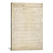 Political 'The Constitution Document' Textual Art on Canvas