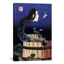 The Ghost Story of Okiku (Sarayashiki) 1830' by Katsushika Hokusai Painting Print on Canvas