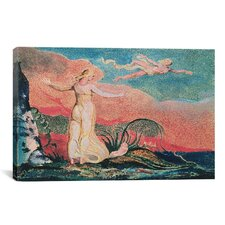 'The Book of Thel, Plate 4 Thel in the Vale of Her' by William Blake Painting Print on Canvas