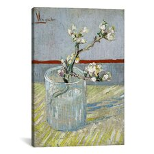 'Sprint of Flowering Almond Blossom' by Vincent Van Gogh Painting Print on Canvas