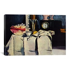 'The Black Clock' by Paul Cezanne Painting Print on Canvas