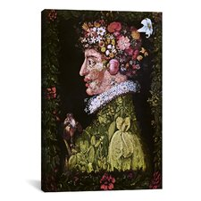 'Spring' by Giuseppe Arcimboldo Painting Print on Canvas