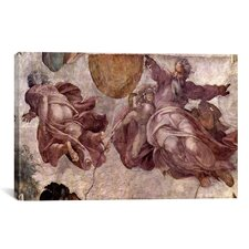 'The Creation of the Sun, Moon and Earth 1535-1541' by Michelangelo Painting Print on Canvas