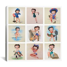 The Many Faces of Betty Boop Graphic Art on Canvas in Multi-color