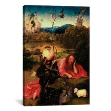 'St. John the Baptist in Meditation' by Hieronymus Bosch Painting Print on Canvas
