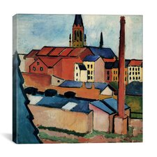 """St. Mary's with Houses and Chimney"" Canvas Wall Art by August Macke"