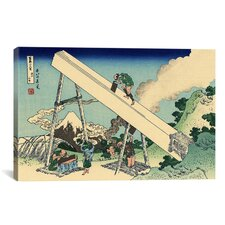 'The Fuji from the Mountains of Totomi' by Katsushika Hokusai Painting Print on Canvas