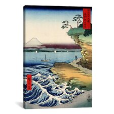 The Coast at Hota in Awa Province, 1858' by Utagawa Hiroshige Painting Print on Canvas