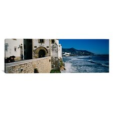 Panoramic Sitges, Spain Photographic Print on Canvas