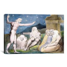 'The Wrath of Elihu' by William Blake Painting Print on Canvas