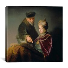 """The Young Scholar and His Tutor"" Canvas Wall Art by Rembrandt"