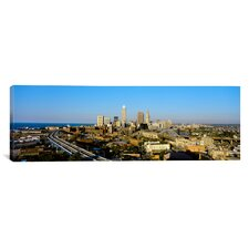 Panoramic 'Ohio, Cleveland, Aerial' Photographic Print on Canvas