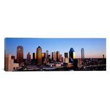 Panoramic 'Texas, Dallas, Sunrise' Photographic Print on Canvas