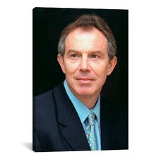 Political Tony Blair Portrait on Photographic Print on Canvas