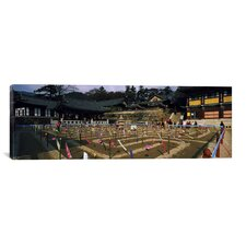 Panoramic 'Haeinsa Temple, Kayasan Mountains, Gyeongsang Province, South Korea' Photographic Print on Canvas